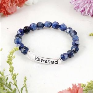 ♥️ LAPIS (FACETED) INSPIRATIONAL (BLESSED)
